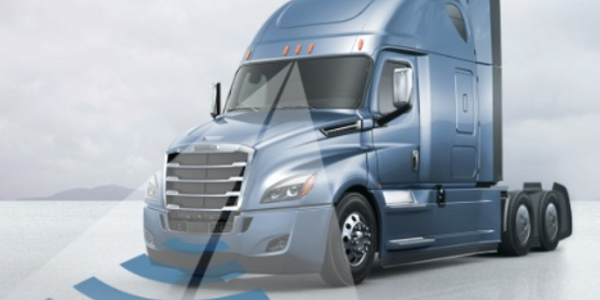 Now standard on the Cascadia, the Detroit Assurance 4.0 suite of safety systems includes...