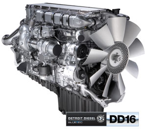 Detroit Diesel's DD16 with BlueTec technology for 2010 will cost $9,000 more than current-technology engines.