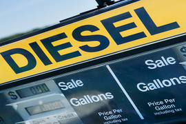 Diesel Prices Fall, But Just Barely