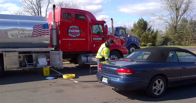 Fuel shortages following Hurricane Sandy kept mobile fueling trucks busy following the storm. (FEMA photo)