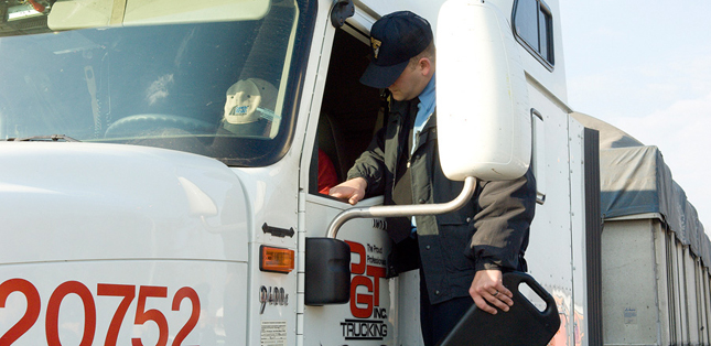 One of the changes FMCSA will make is that severity weightings for some roadside inspection violations will be updated. (Photo by the Ohio State Highway Patrol)