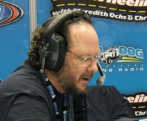 Lockridge on air at the Mid-America Trucking Show.