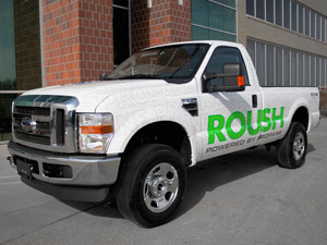 The CARB certification applies to the 2010 Ford F-250 (shown) and F-350 models with the 5.4L V8 engine.