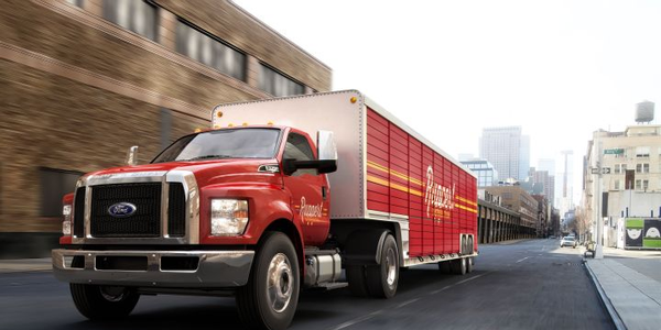 Photo of F-650 beverage truck courtesy of Ford.