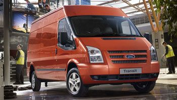 UAW members will begin building the European-style full-size Transit van, like this one in the UK, in Kansas City, Mo., in 2013.