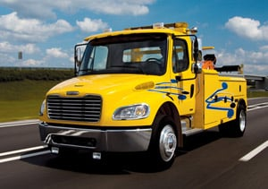 The Freightliner Business Class M2 106 Hybrid trucks will be used for forestry, traffic signal and traffic sign repair.