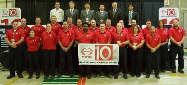 Hino Celebrates 10 Years in West Virginia