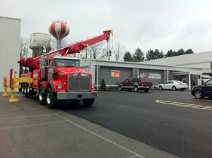 """The event brought in more than 200 customers to tour the 10,000-square-foot, hands-on training facility which featured a BBQ lunch, door prizes, giveaways and an appearance by """"The Chief,"""" Hovis Auto Wrecking's 80-ton rotator wrecker."""