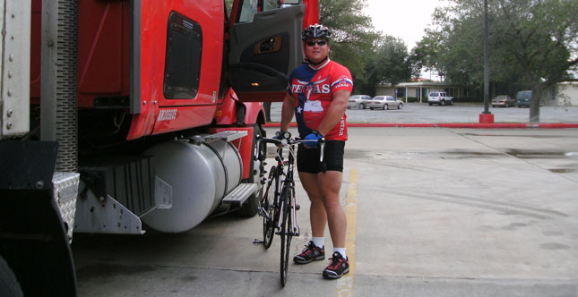 Jeff Barker is one truck driver who's already on the fitness bandwagon.