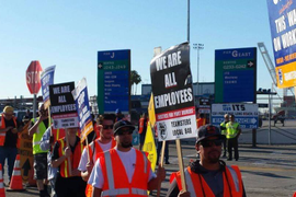 Port Truckers Picket As Far South As Mexico Border