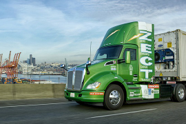 Kenworth Shows Hydrogen Fuel Cell T680 at CES