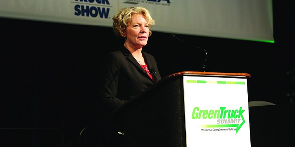 "Daimler's Kary Schaefer explains why she thinks that green innovation ""goes beyond reducing..."