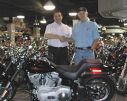 Dart Driver Wins Harley From Petro:Lube