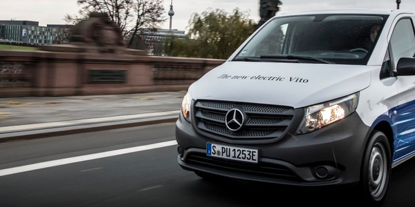 European-model Mercedes-Benz Vito electric van. The Vito is sold on this side of the Atlantic as...
