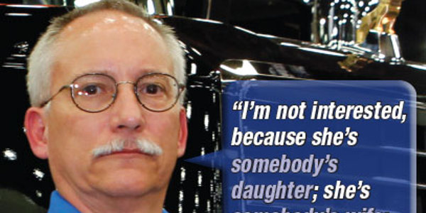 One of the banners in the Man to Man anti-human-trafficking campaign from American Trucking...
