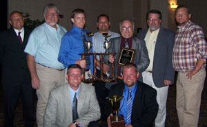 Maverick Transportation accepts awards after competing in the Arkansas Trucking Championships last week.