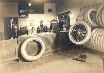 George Koons, Fred Prior and staff during the early days of Midwest Wheel Companies.