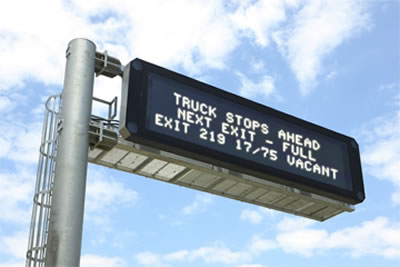 New Parking System Helps Truckers Find Open Spaces