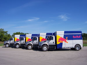 Red Bull Purchases Hybrid Delivery Trucks