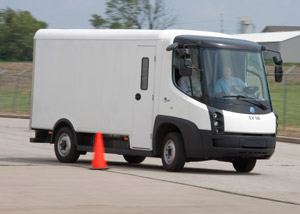 The eStar is targeted at operations that currently use gasoline or diesel step vans in city applications.(Photo by Navistar)
