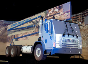 At the Mid-America Trucking Show in March, the introduction of the International LoadStar was one highlight of Navistar's huge booth.
