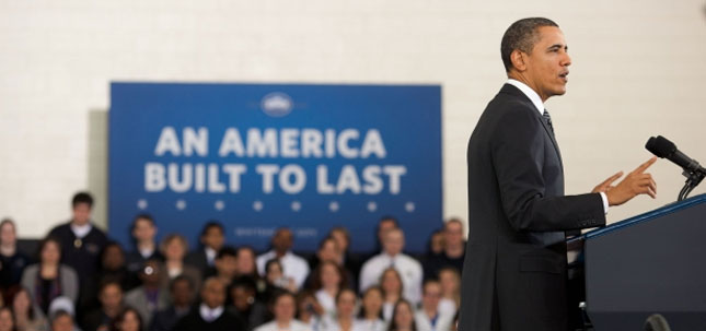 resident Obama talks about his 2013 budget at Northern Virginia Community College in Annandale, Va., on Monday. (White House photo)