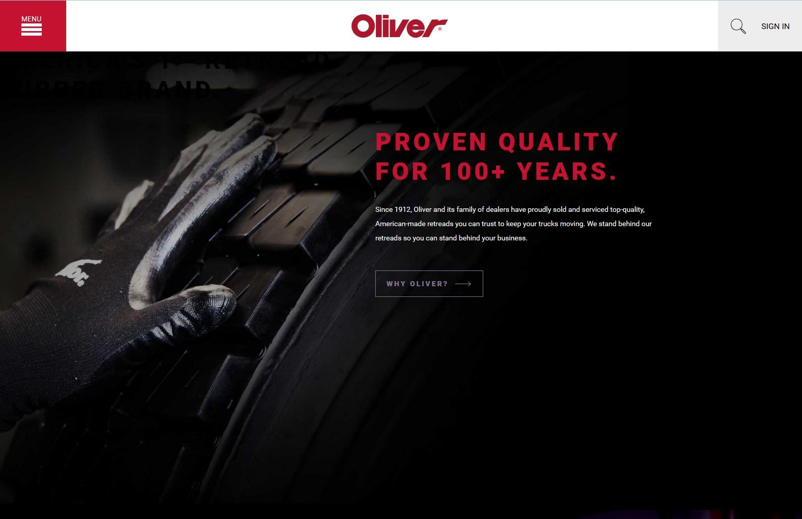 Oliver Rubber Website Includes Redesigned Retread Selector