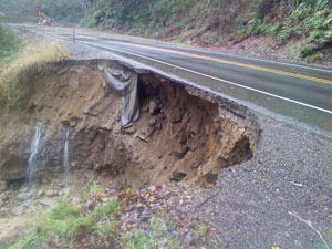 Oregon will receive $15 million for cleanup from flooding, landslides and erosion that occurred across the state as a result of severe storms in January 2012. (Photo courtesy of ODOT)