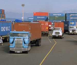 The Scrappage and Retrofits for Air in Puget Sound (Scraps) program hopes to get 250 trucks with pre-1994 engines off the road. It's already reached 200. (Photo courtesy of Port of Seattle)