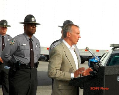 South Carolina Trucking Association President Rick Todd announced his group's support of the new program.