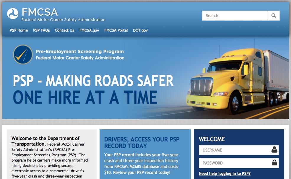 Pre-Employment Screening Program Website Updated