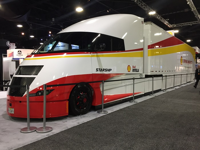 Shell Debuts Fuel-Efficient Starship Concept Truck