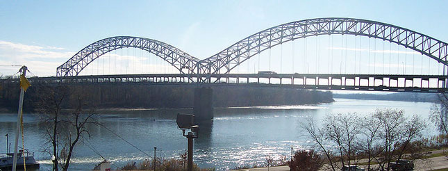 The Sherman Minton Bridge carrying traffic over the Ohio River on I-64 is closed indefinitely.