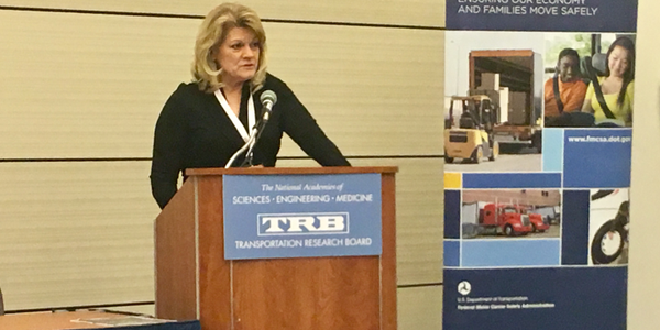 FMCSA Deputy Administrator Cathy Gautreaux tells TRB audience in Washington DC that the agency...