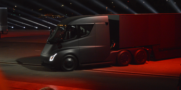 CEO Elon Musk says Tesla's Semi electric truck will have a daily range of 500 miles. Photo: Jack...