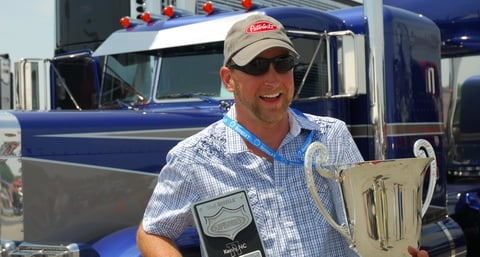 Jeremy Heiderscheit of Peosta, Iowa , winner of Best of Show at the 2011 SuperRigs competition, called the win one of the best monents of his life.