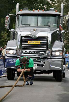 The Truck Pull competition at The Met-Rx World's Strongest Man competition, held in Charlotte, NC.