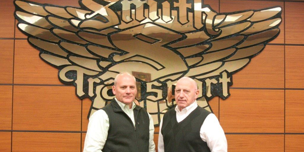 Todd Smith (left) is succeeding Barry Smith (right) as president of Smith Transport. Photo:...
