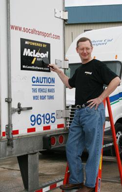 Tom McLeod, president of McLeod Software, demonstrates the new