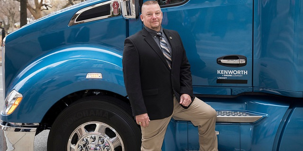 Last year's Transition Trucking: Driving for Excellence award winner Gregg Softy, who served 28...