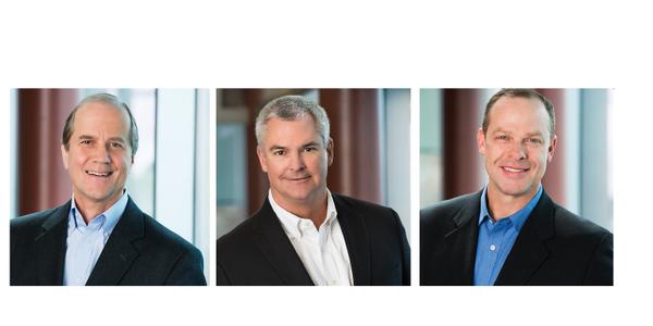 Thomas Fansler (left) has been named president of Transportation Mobility, Jim Rodi (center) was...