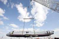 The museum has made a deal with the owner of the salvage, and is now trying to get the airliner to Charlotte from New Jersey.