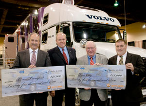 From left, Bison President and CEO Don Streuber, Volvo Trucks Senior Vice President Sales & Marketing Scott Kress, Food City Senior Vice President and COO Jesse Lewis and Food City Director of Transportation Mike Tate.