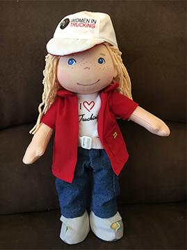 Women in Trucking Designs Plush Trucking Doll