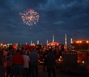 The Tracy Lawrence concert will be followed by a fireworks display and Super Truck Beauty Contest light show.