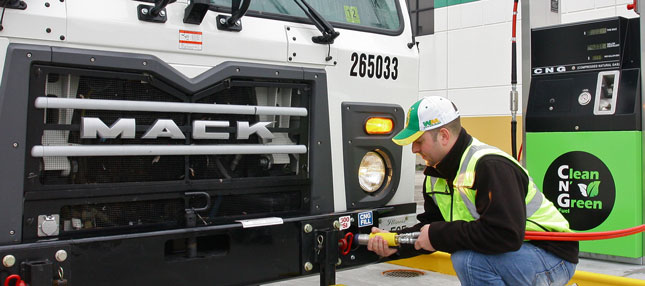 Adoption of CNG by fleets such as Waste Management is driving natural gas adoption to a tipping point, study says.