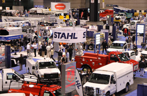 At The Work Truck Show 2009, 490 exhibitors filled out a show floor covering nearly 500,000 square feet with new vocational trucks, components and equipment.