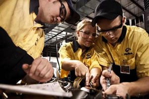 WyoTech has partnered with Mack to train diesel technicians specifically on Mack trucks.