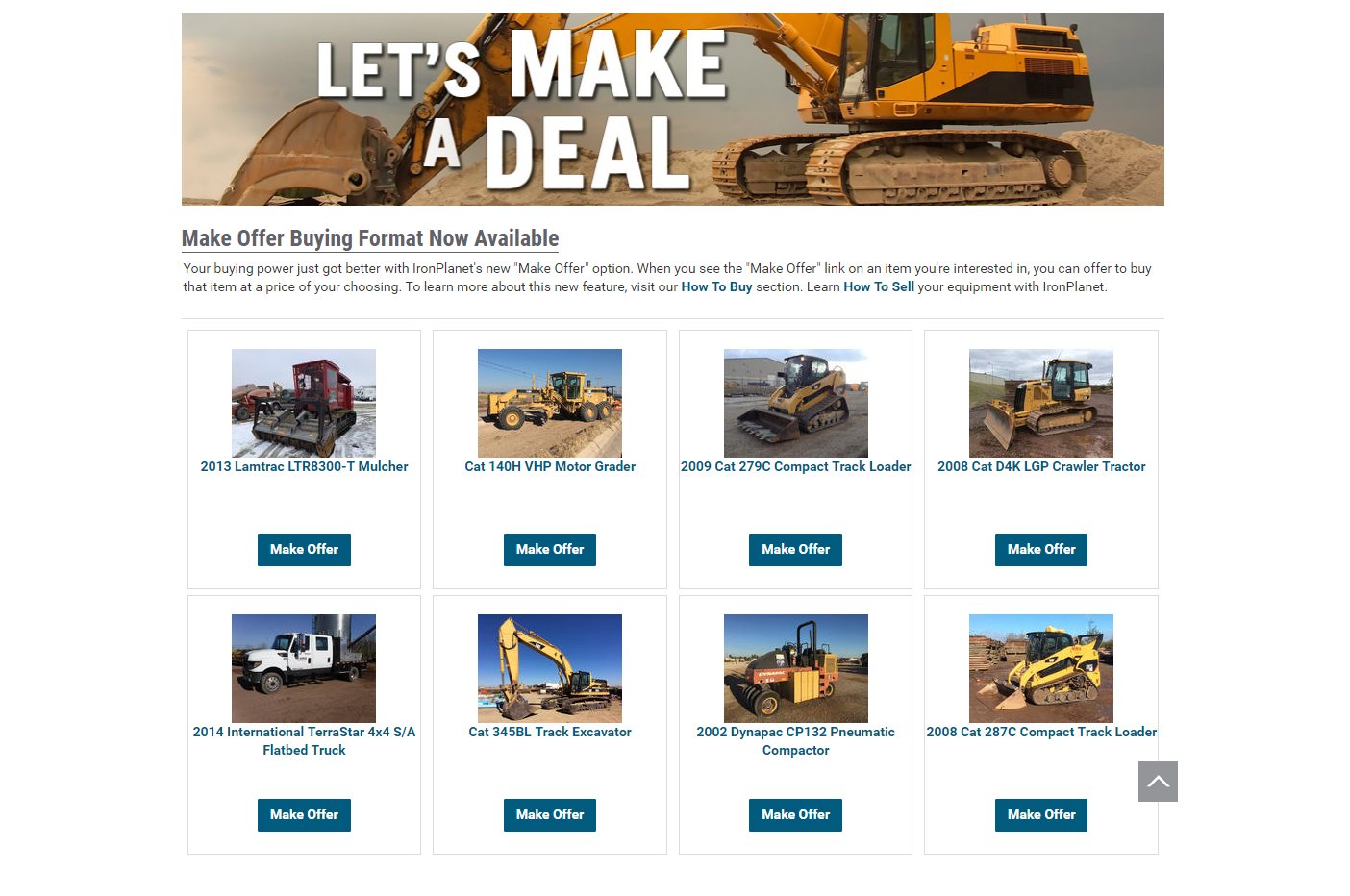 IronPlanet Offers Fixed and Negotiated Pricing Format