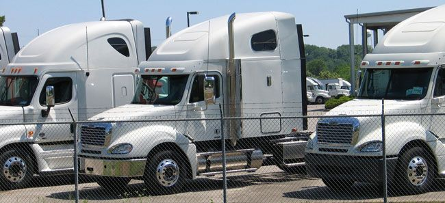 Daimler Trucks North America led the market-share race in Class 6 through Class 8 sales in January.